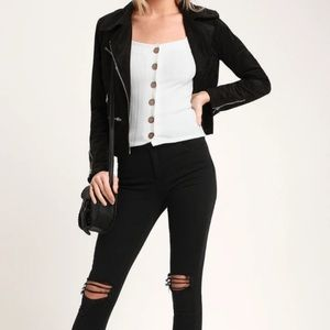 FREE PEOPLE WHITE BUTTON UP TOP